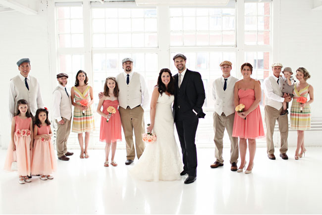 chic wedding party