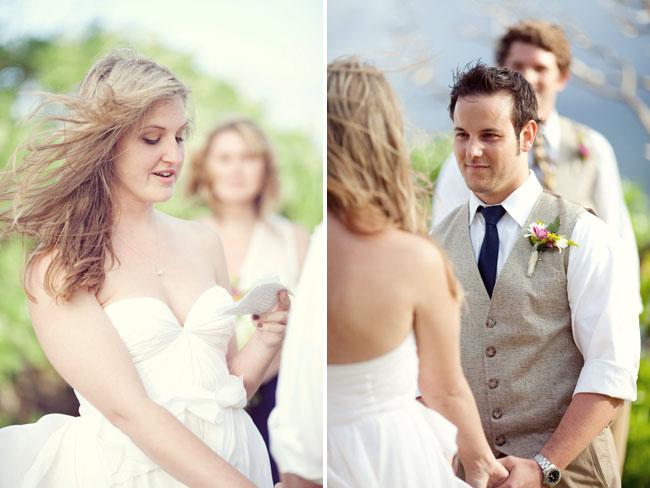 bride wearing sarah seven dress
