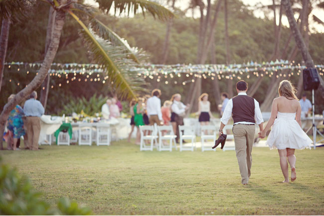 hawaii backyard wedding