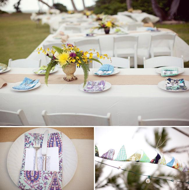 backyard wedding tables for dinner