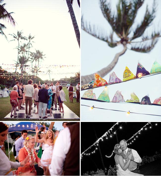 hawaii wedding outdoor dance floor
