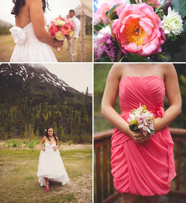 peony bouquet bride
