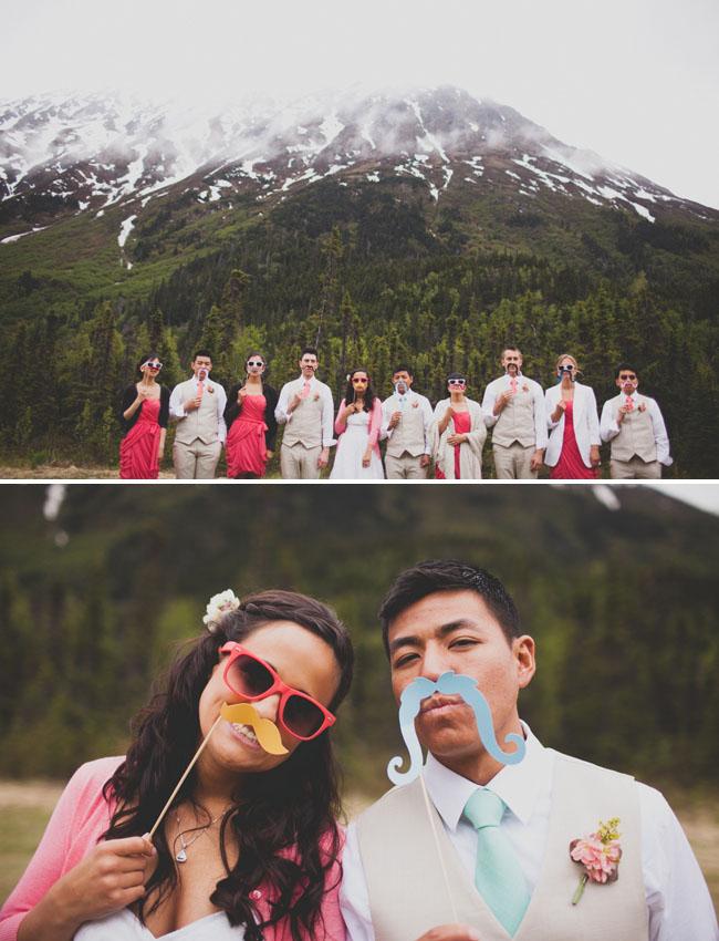alaska wedding bridal party