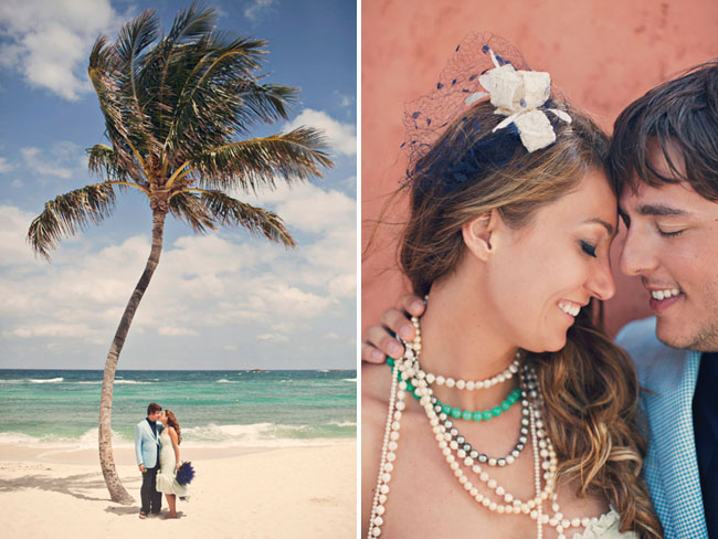 bride with lots of necklaces