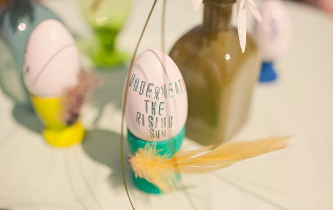 egg as wedding decoration