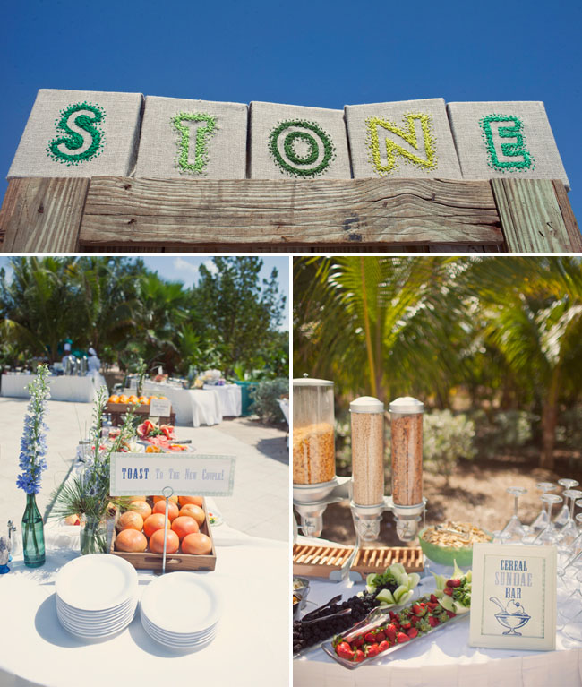 beach wedding food