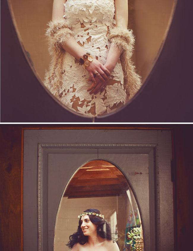 lace wedding dress flower halo