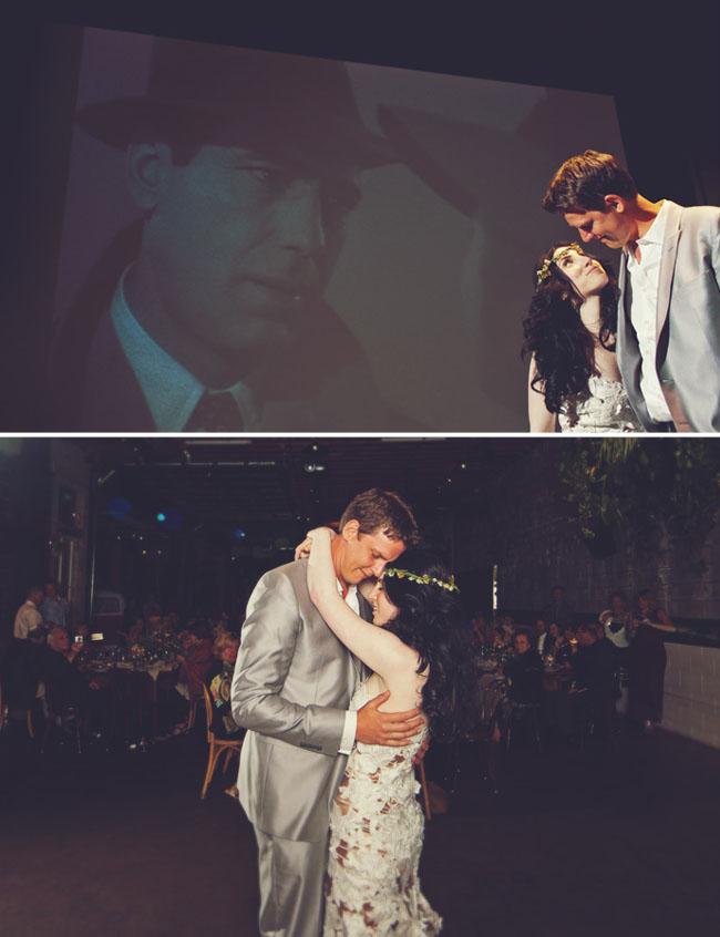 wedding dance under the movies