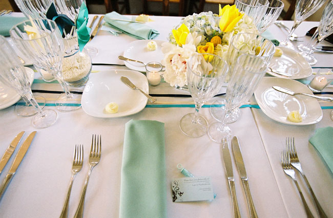 table design wedding ribbons