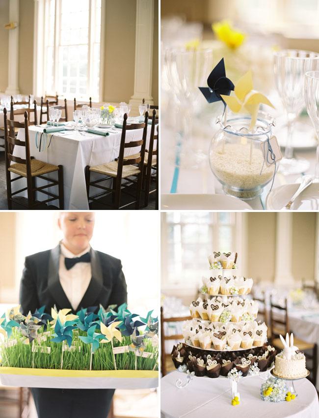 pinwheels at wedding