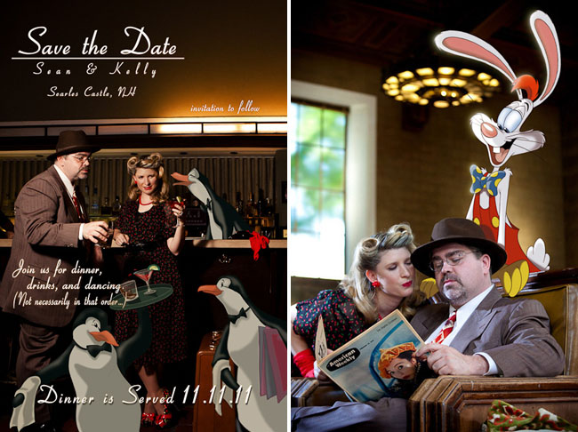 engagement photos with roger rabbit