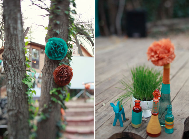 outdoor wedding with DIY touches