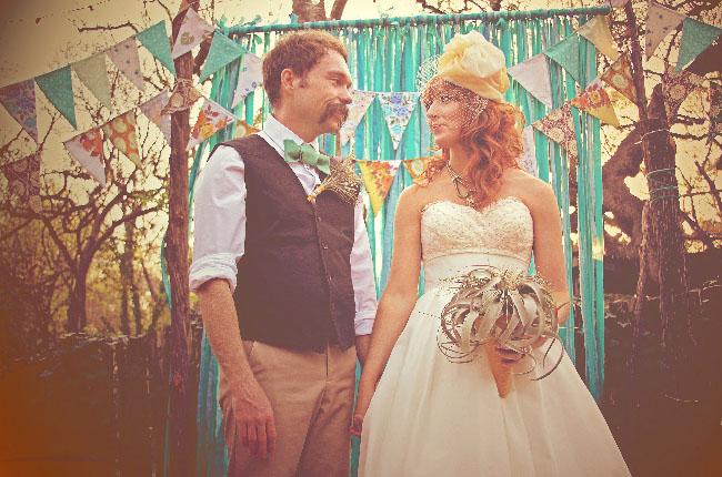 bride with succulent bouquet