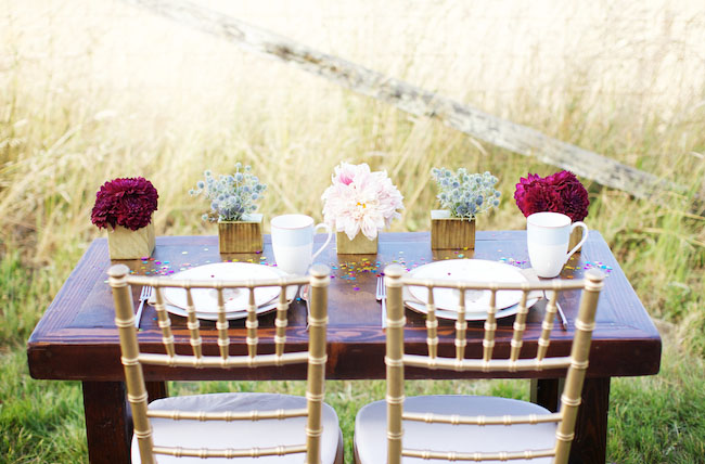 wedding dinner for two elopement