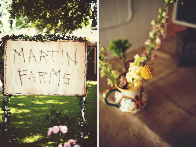farm wedding sign
