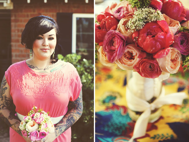bridesmaids with tattoos