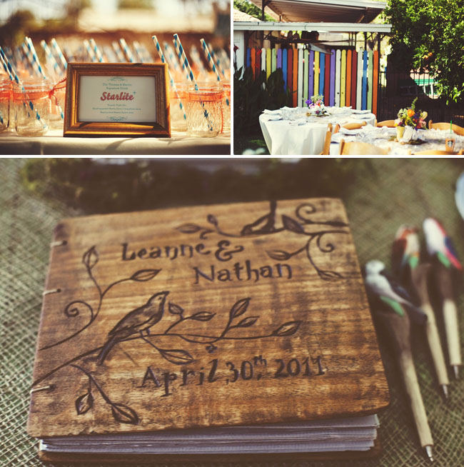 wedding guestbook made of wood