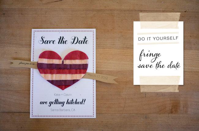 fringe DIY Save the Date