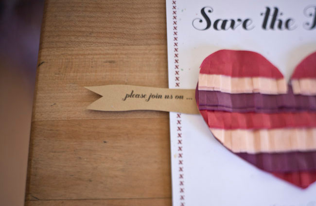 fringe heart save the date