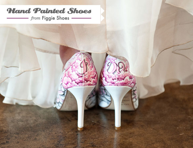 hand painted shoes with I Do