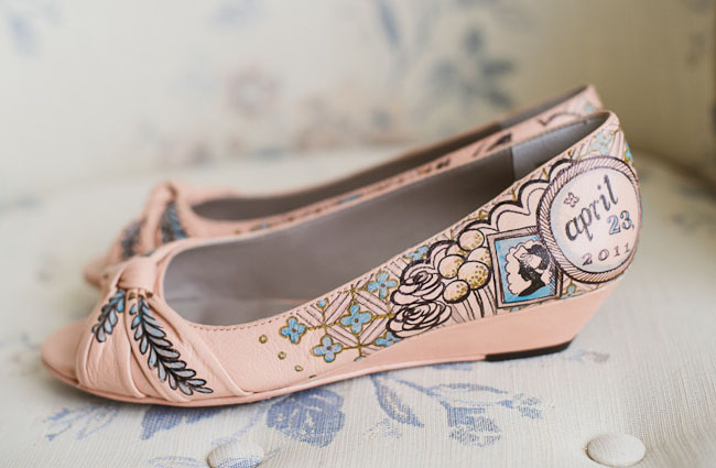 hand painted wedding shoes figgie shoes