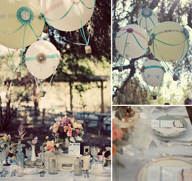 hot air balloon wedding decor