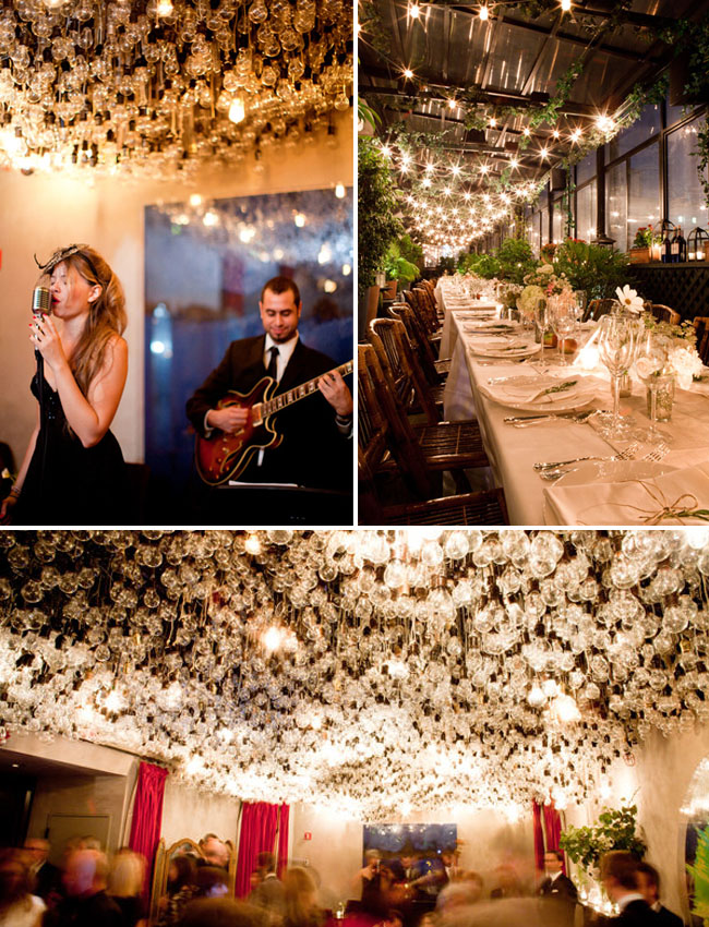 gramercy hotel lightbulbs wedding
