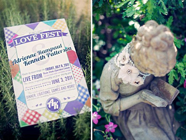 love fest wedding invitation