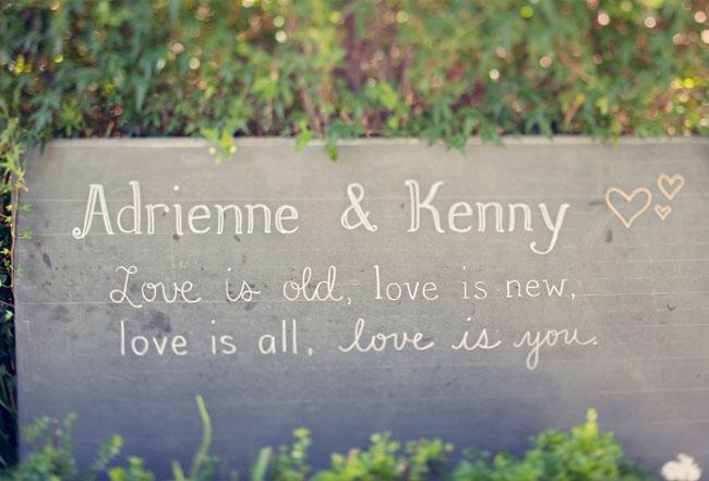 love sign chalkboard