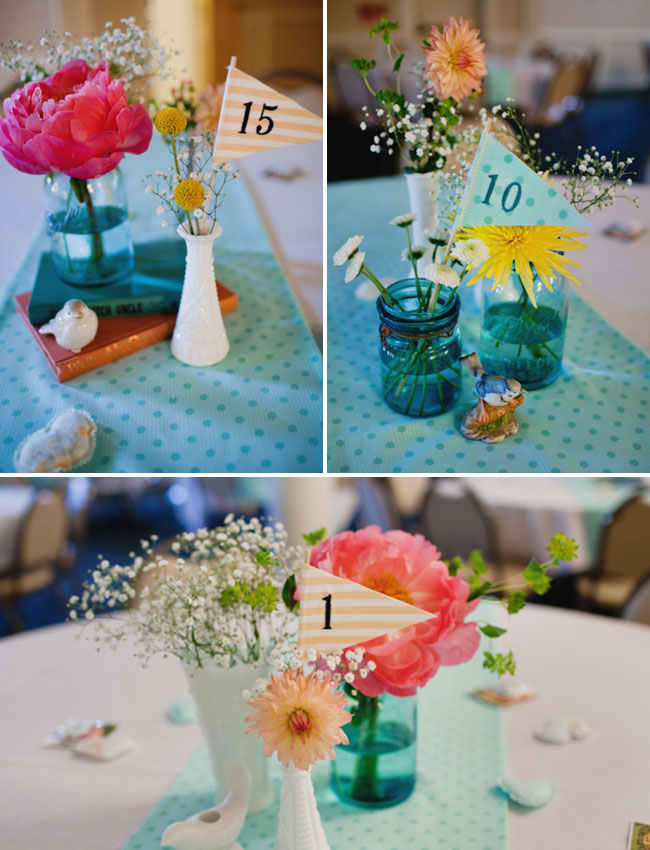 wedding centerpieces with flags