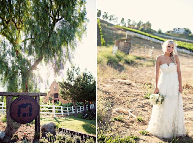 rustic wedding bride