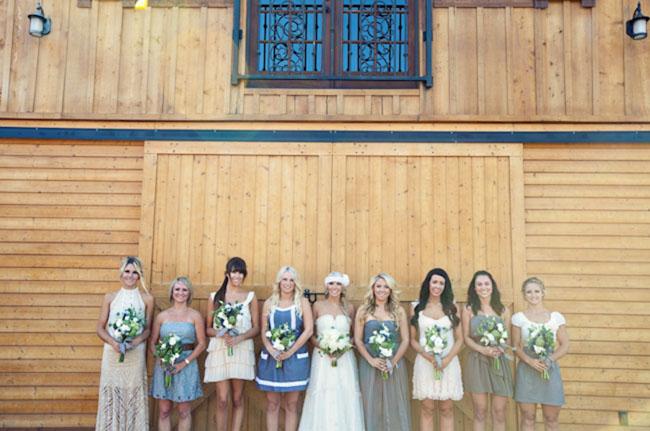 bridesmaids rustic wedding dresses