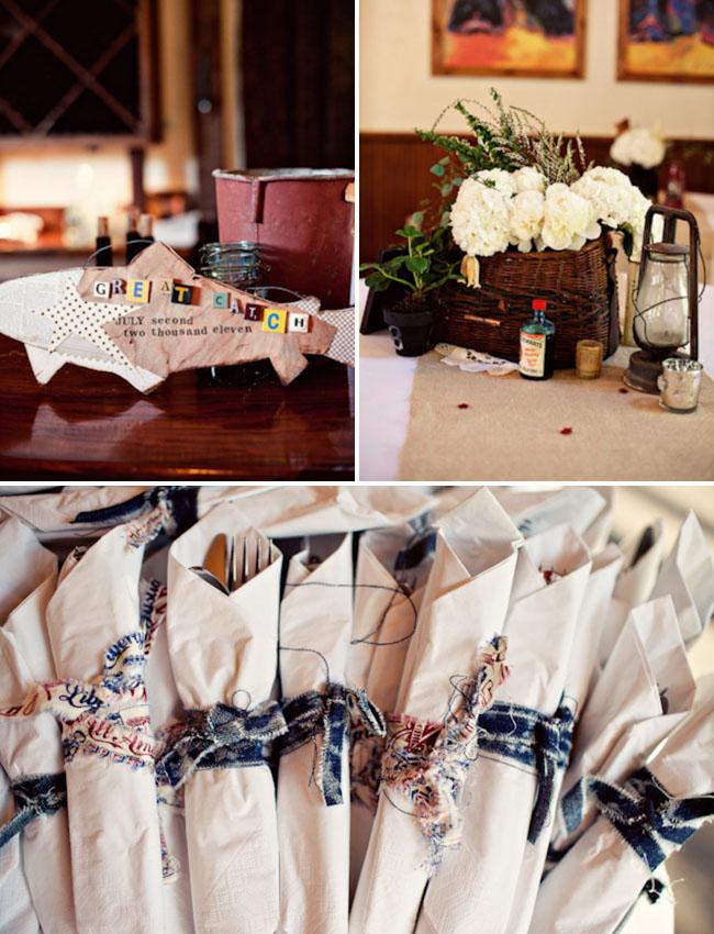 rustic silverware wedding
