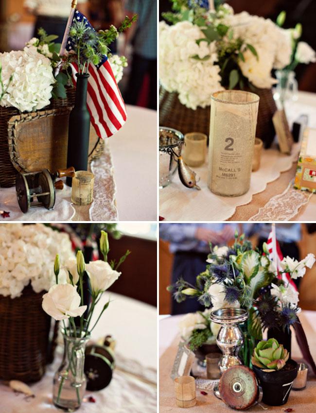 americana wedding centerpieces