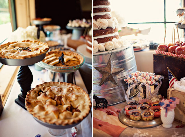 rustic wedding cake dessert table