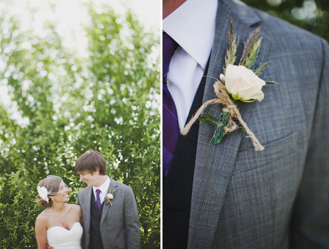 boutonniere with wheat