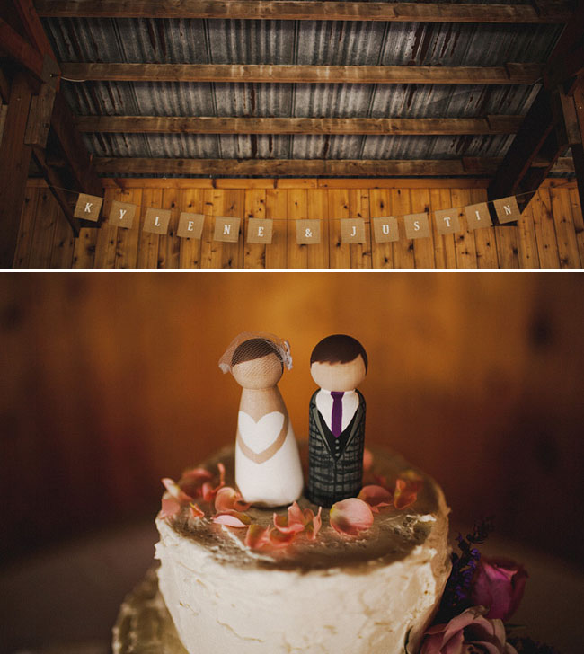 wooden cake toppers bride and groom