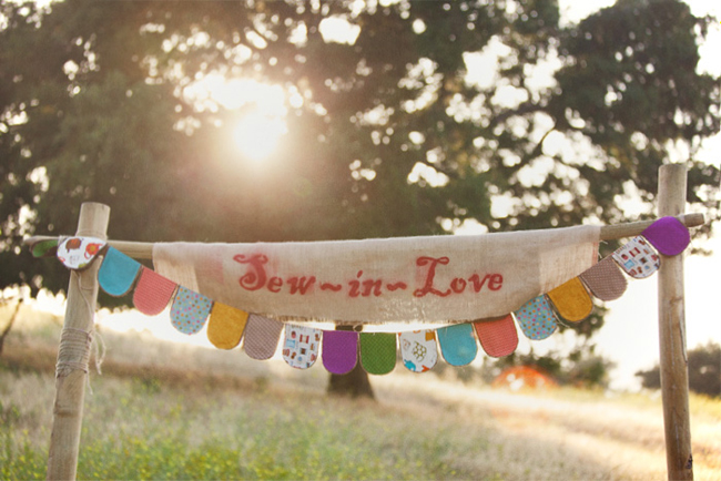 sew in love wedding banner