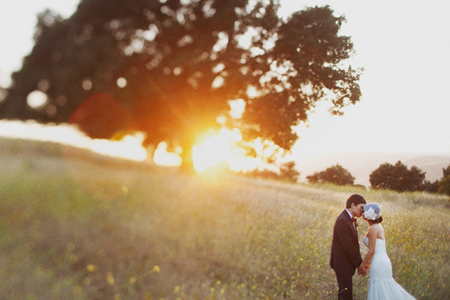 day after wedding photos sunset