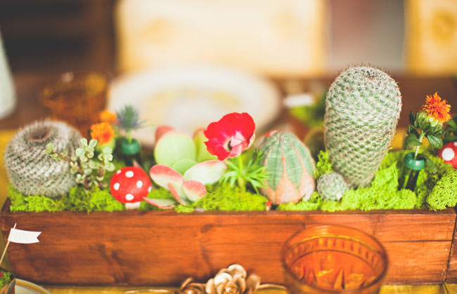 cactus wedding centerpiece