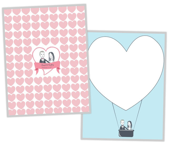 heart guestbook illustration