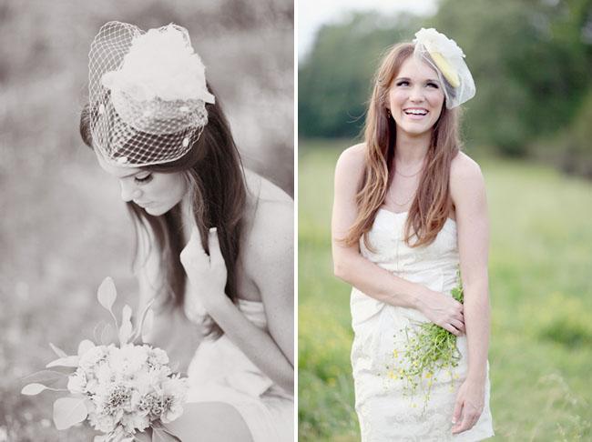preston & Olivia vintage bridal hats