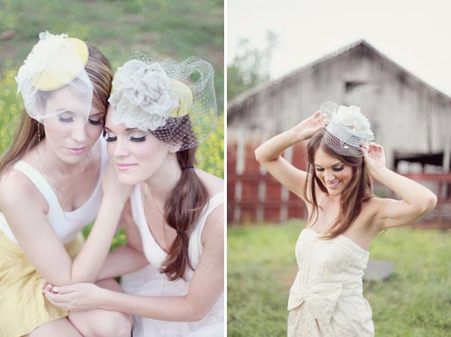 vintage bridal hats wedding