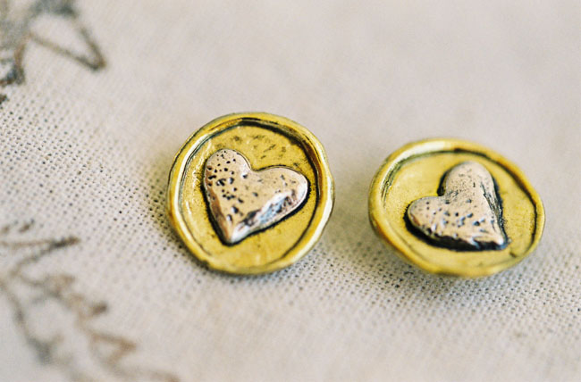 heart cuff links waxing poetic