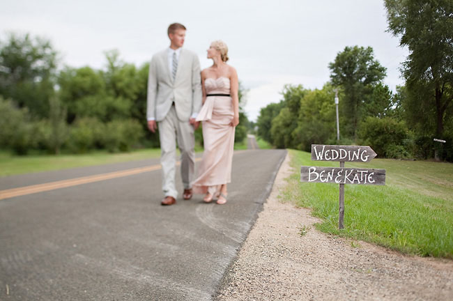 bride and groom wooden sign