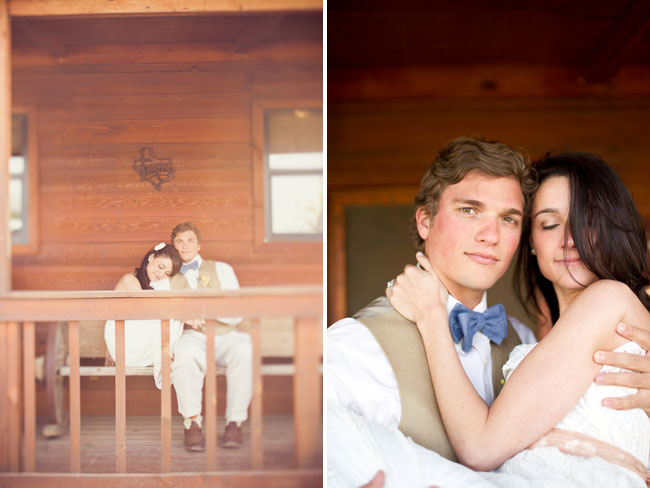 couple at cabin house
