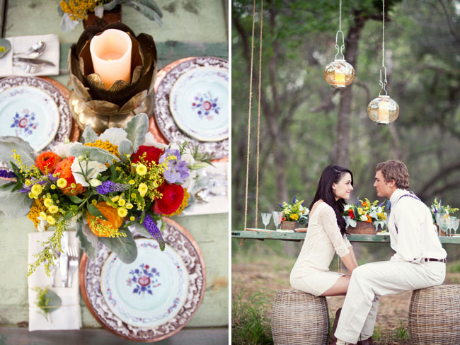 vintage plates for reception