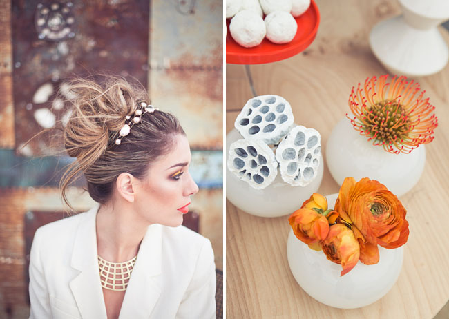 bride with jewels in her hair
