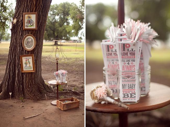 wedding program as bookmark