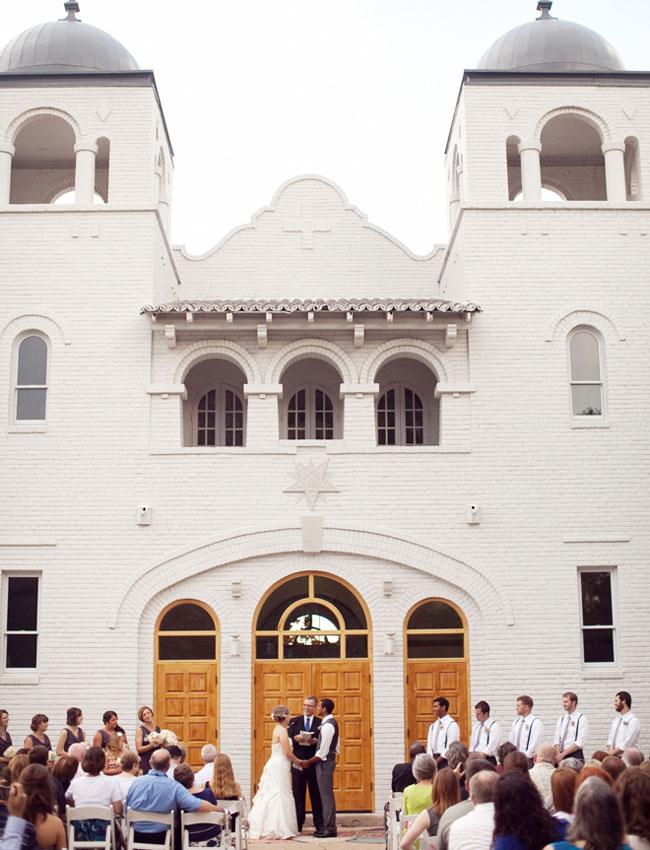 wedding outside a church